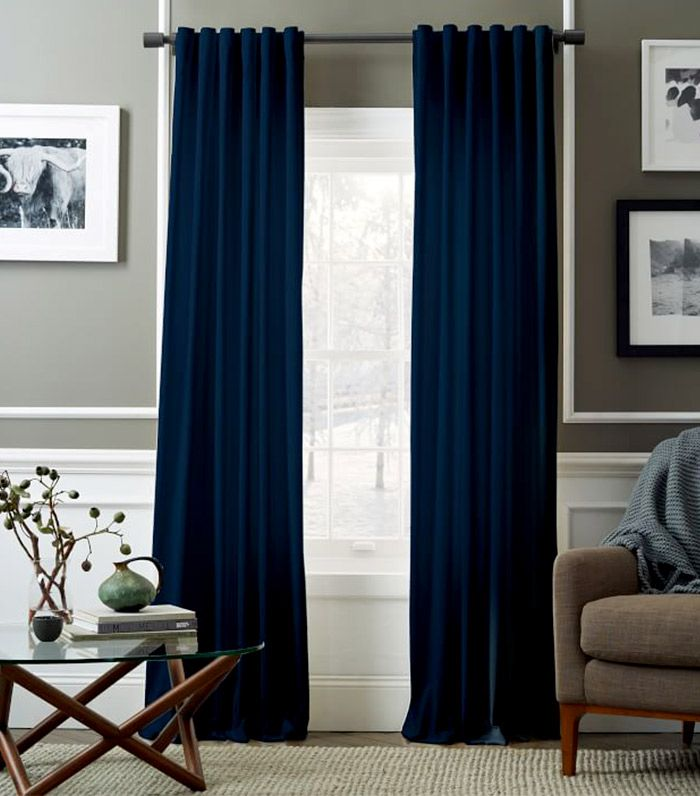 Best Navy blue curtains in living room navy blue curtains