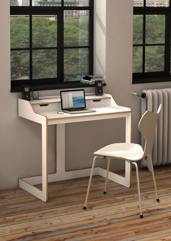 Best Office : Small Home Office Space With Modern Desk Designs - Modern modern desks for small spaces