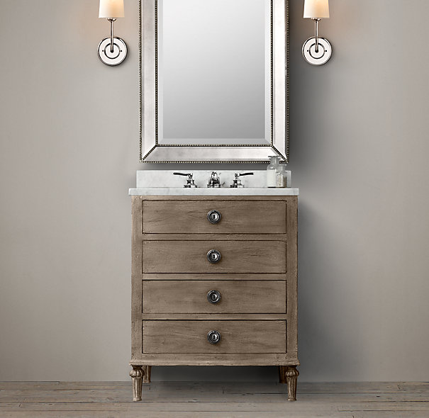 Best Powder room vanity | Maison Powder Room Vanity Sink | Single | Restoration powder room sinks and vanities