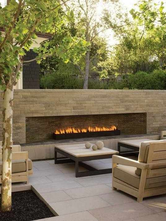 Best Really like this. We like the look of the patio material. Fireplace gas outdoor fireplace