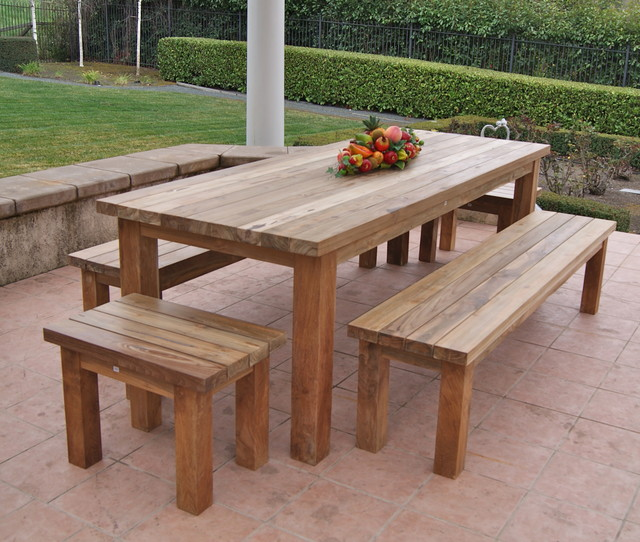 Best Reclaimed, Recycled Teak Patio Furniture rustic-patio reclaimed teak garden furniture