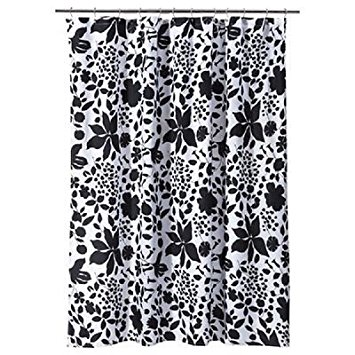 Black And White Flower Shower Curtain. Best Room Essentials Black White Floral Shower Curtain black and white  floral shower curtain Getting a great darbylanefurniture com