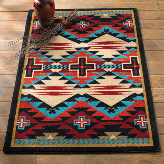 Best Rustic Cross Blue Southwestern Rug Collection Style Rugs