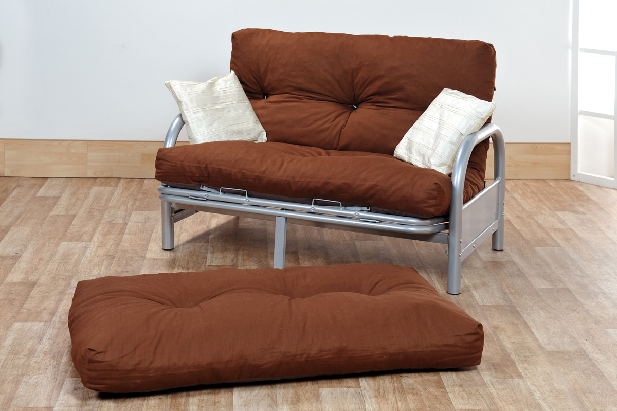 Small Futon Couch Brown Sofa Bed