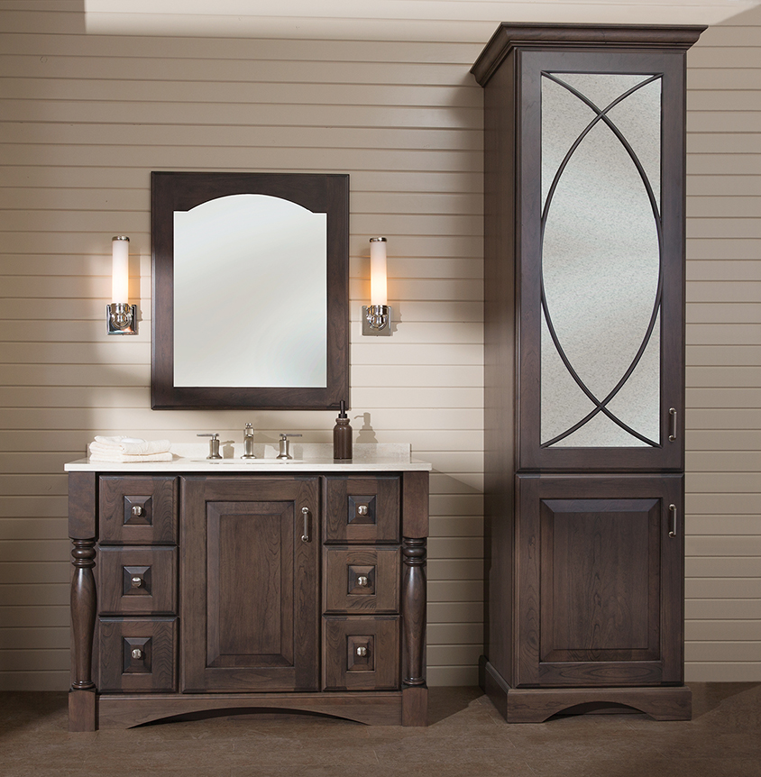 Bathroom vanity and linen closet combo bathroom design ideas for Closet vanity ideas