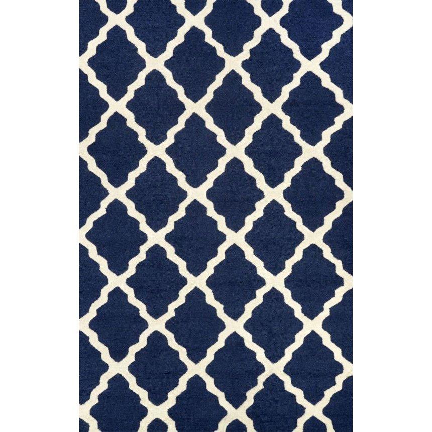 Best Varick Galleryu0026reg; Simonds Moroccan Trellis Navy Area Rug navy blue rug