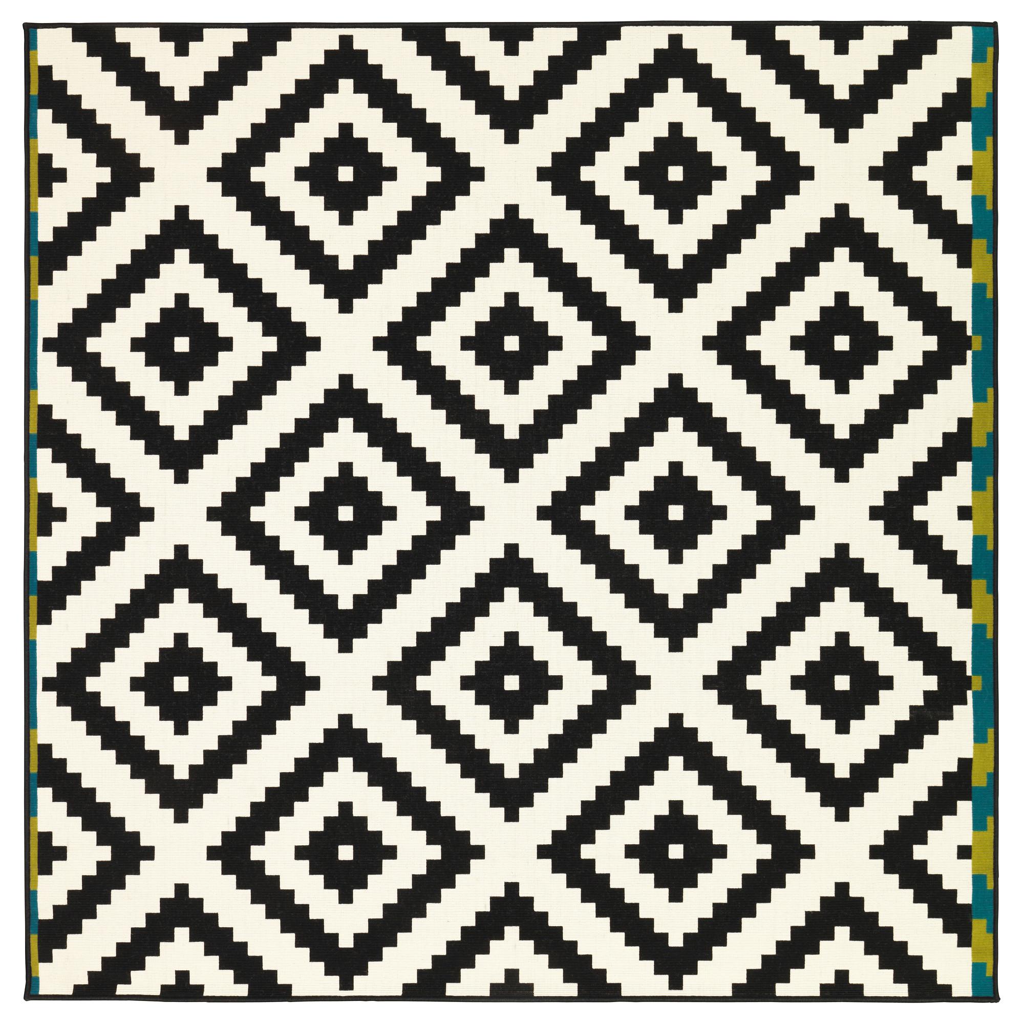 Stunning LAPPLJUNG RUTA Rug, low pile - 6 u0027 7  black and white rug