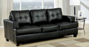 Stylish Diamond Black Leather Sofa Bed black leather sofa bed