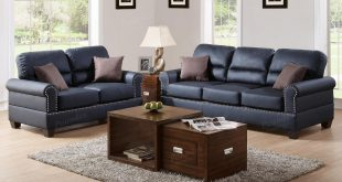 Best Aspen Black Leather Sofa and Loveseat Set black leather sofa set