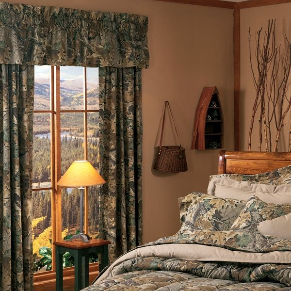 Amazing camouflage house decor | Realtree Advantage Camo Window Curtain | camouflage  decor camo window curtains