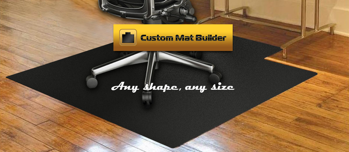 Luxury Custom Chair Mats carpet chair mats for hardwood floors