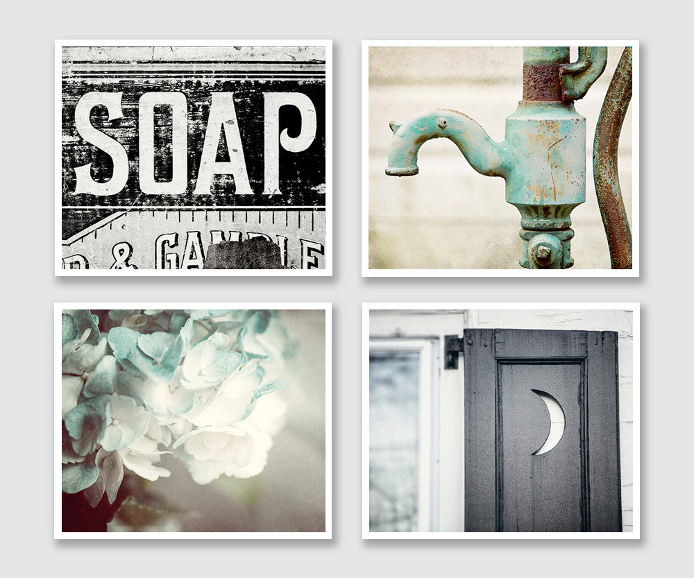 Chic 🔎zoom rustic bathroom wall decor