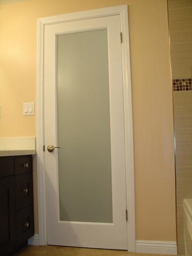 Best types of bathroom doors Glass bathroom doors interior