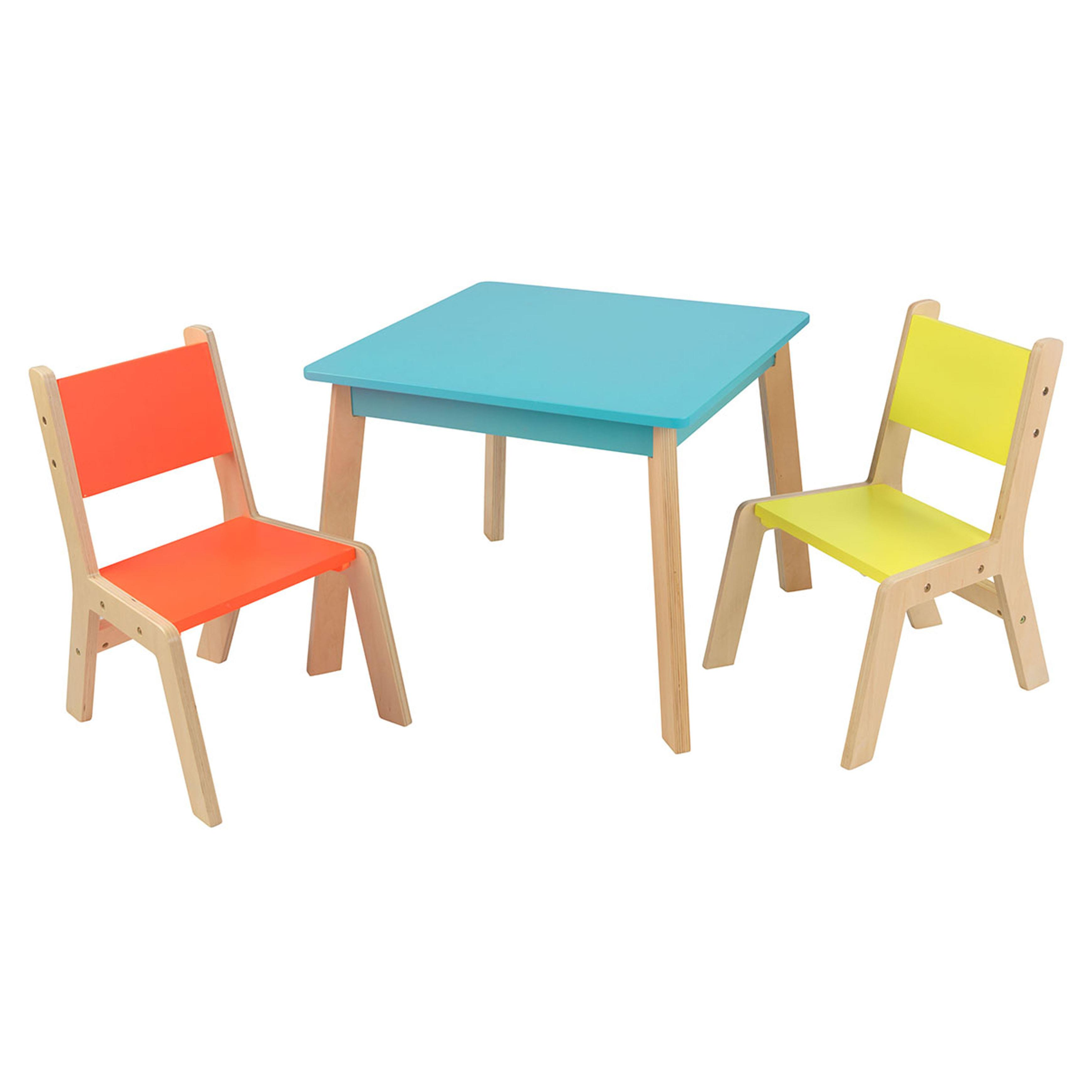 Chic $50-$100 wooden toddler table and chairs