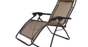 Chic Amazon.com : Folding Camping XL Recliner Chair Beige RV Patio Chair (Heavy reclining patio chair