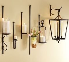 Chic artisanal wall mount candle holders. Fill with candles, greenery, flowers  or wall mounted candle holders
