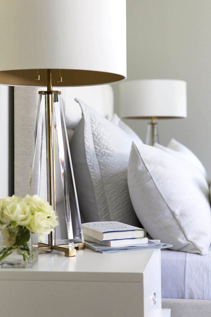 Chic Atherton - contemporary - Bedroom - San Francisco - Mead Quin Design nightstand lamps for bedroom
