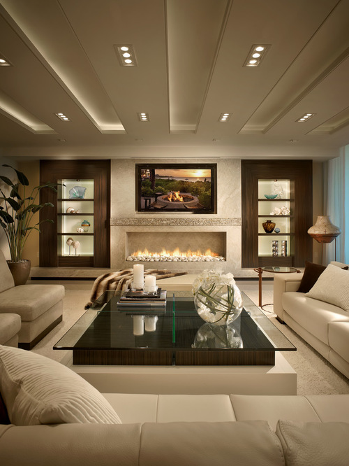Chic Best Contemporary Living Room Design Ideas u0026 Remodel Pictures | Houzz modern living room decor ideas