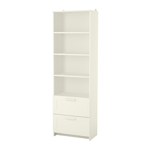 Chic BRIMNES Bookcase IKEA Adjustable shelves, so you can customize your storage  as white bookcase with drawers