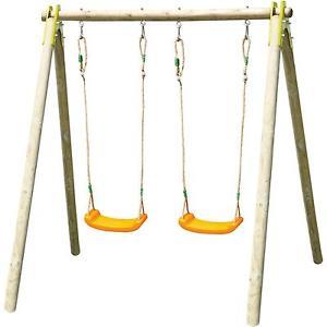 Chic Childrenu0027s Wooden Garden Swings garden swings for children