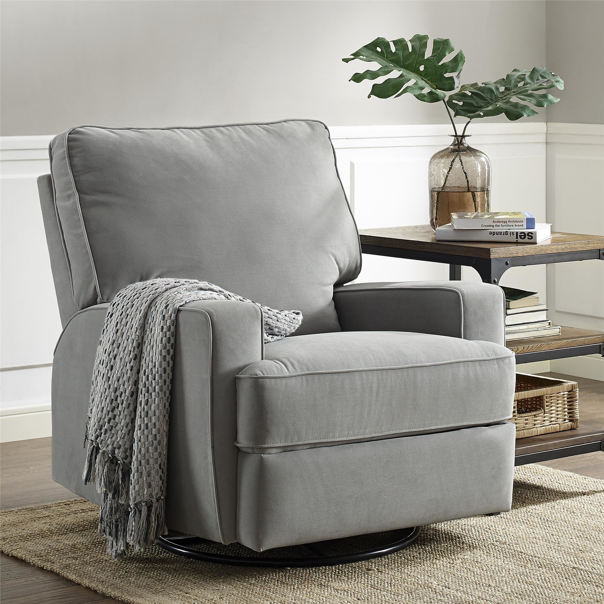 Chic Darby Home Cou0026reg; Valentine Swivel Reclining Glider swivel recliner chairs