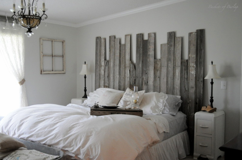 Chic DIY Rustic Headboard For Your Master Bedroom bed headboard ideas