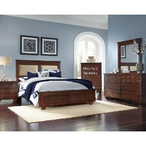 Chic ... Espresso Brown Contemporary 6 Piece Queen Upholstered Bedroom Set - bedroom furniture sets