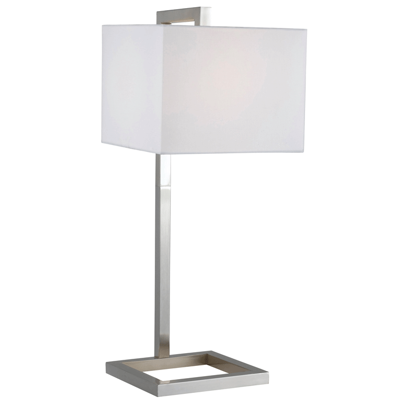 Chic Falkirk Brushed Steel Modern Table Lamp modern nightstand lamps
