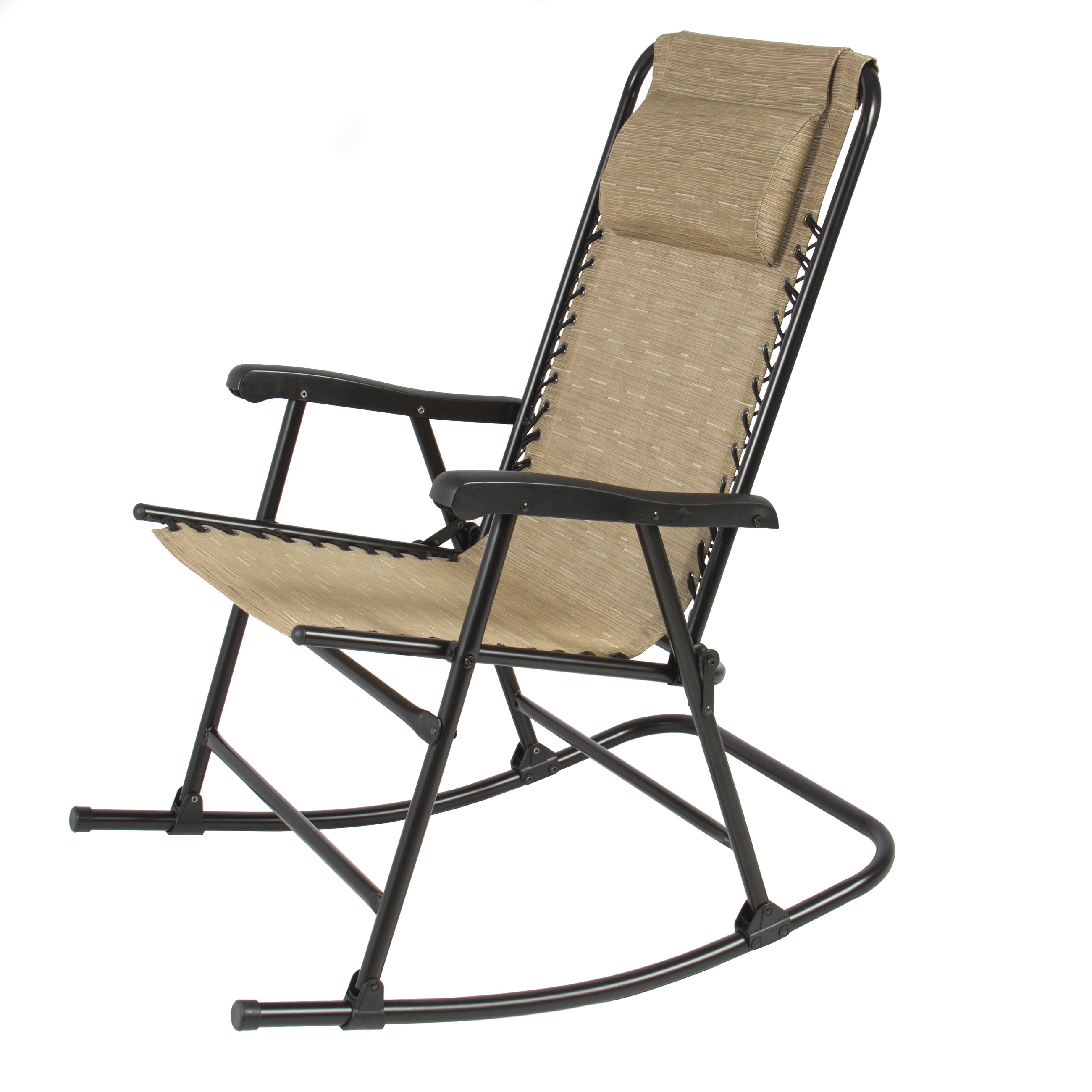 Chic Folding Rocking Chair Foldable Rocker Outdoor Patio Furniture Beige -  Walmart.com folding rocking chair