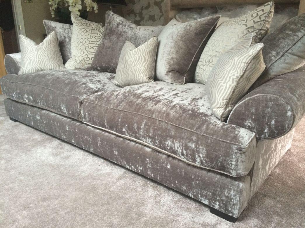 Chic grey crushed velvet sofa - Google Search crushed velvet sofa