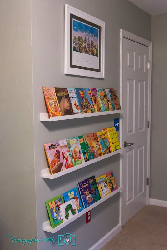 Chic Ikea picture ledges for childrenu0027s front facing book shelves. Such a nice wall bookshelves for kids