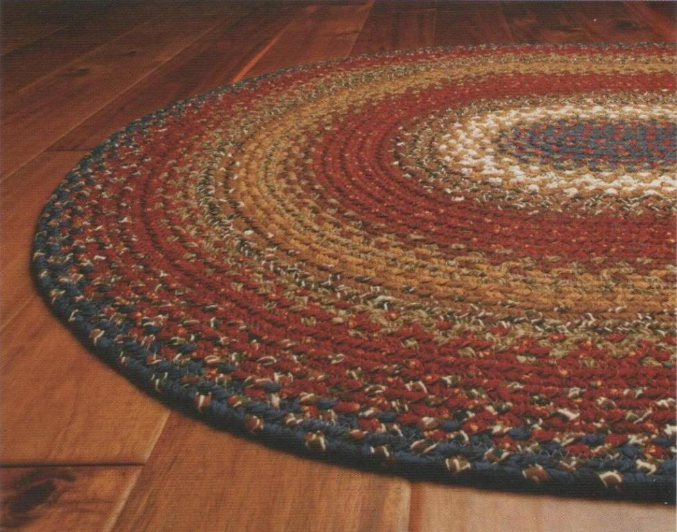 Chic Image Of Oval Braided Area Rugs