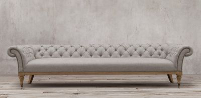 Chic Islington Chesterfield Collection linen chesterfield sofa