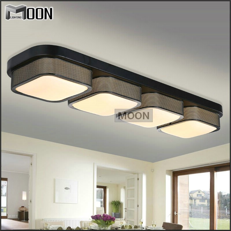 Flush Mount Rectangular Kitchen Light