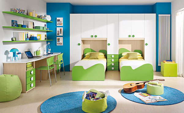 Chic Love this aquamarine inspired bedroom for boys. My nephews loved it too, decorating ideas for boys bedroom