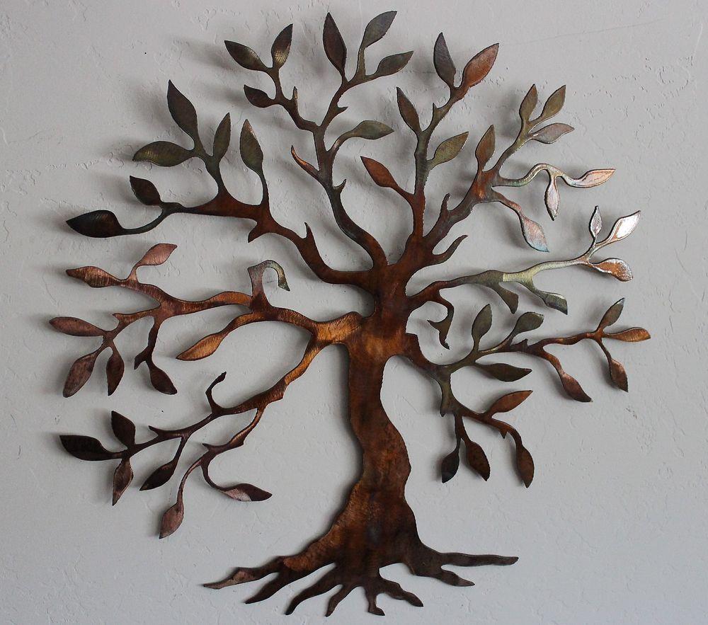 Chic Olive Tree --Tree of Life Metal Wall Art Decor metal tree wall decor