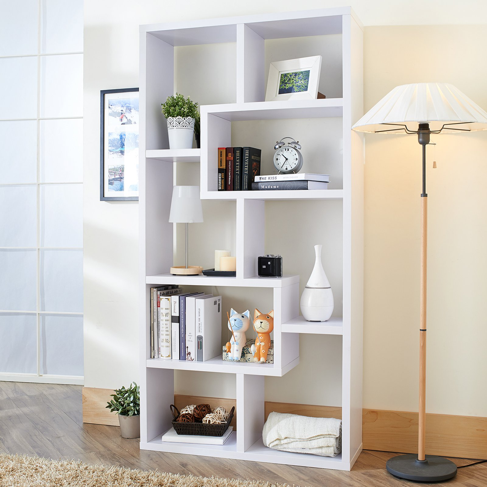 Chic Outstanding Modern White Bookcase Pics Decoration Inspiration ... modern white bookshelf