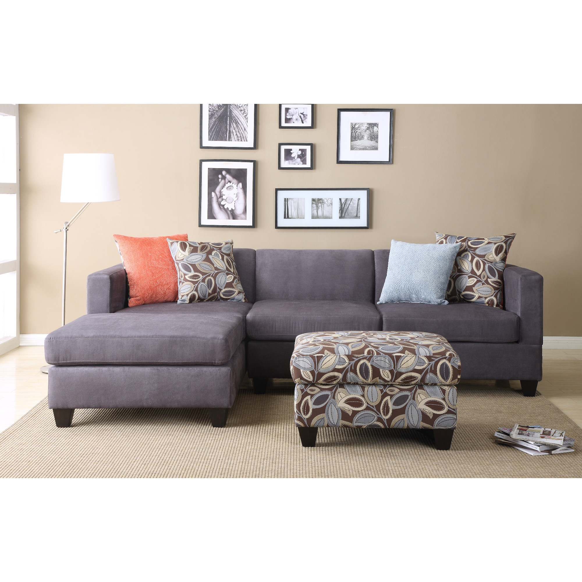 Chic QUICK VIEW. Ashtyn Reversible Chaise Sectional microfiber sectional sofa
