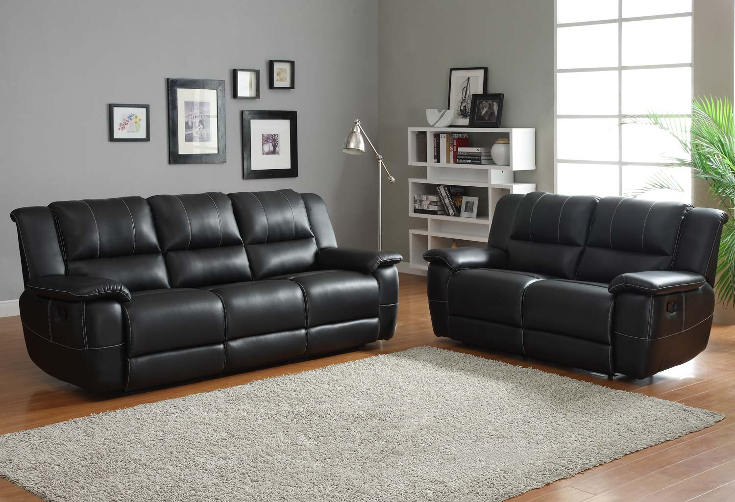 Chic ... Remarkable Black Leather Sofa Set Black Leather Living Room Furniture black leather sofa set