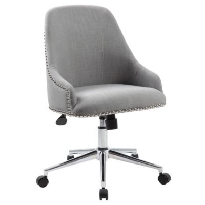 Chic Retro Office Chair in Fabric with Nailhead Trim , 8803059 contemporary office chairs