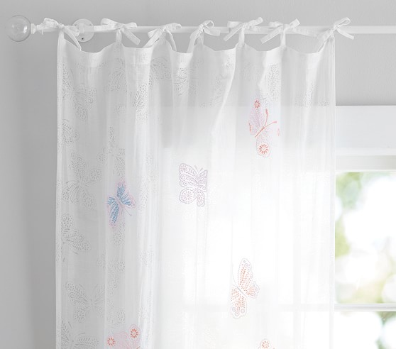 Chic Roll Over Image to Zoom sheer butterfly curtains