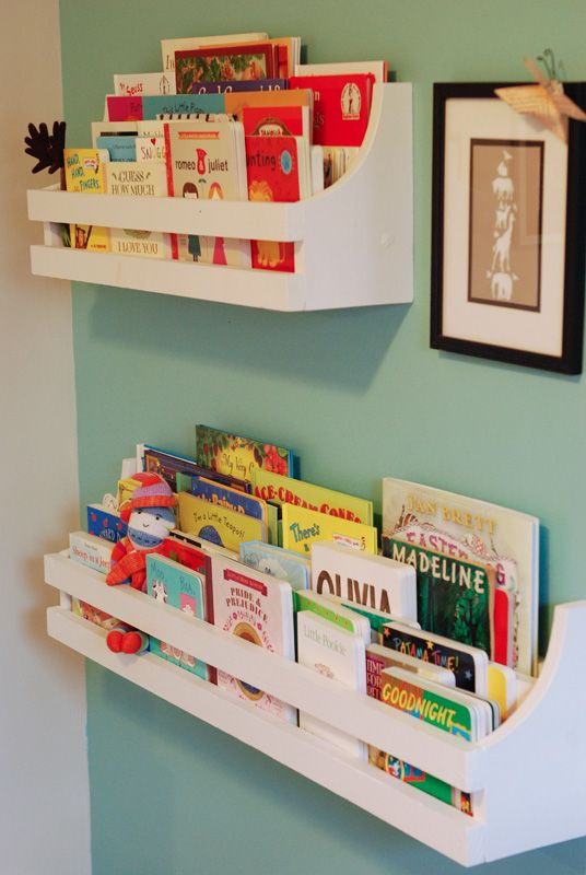 Chic Roryu0027s bookshelves. Inspired by Pottery Barn Kids. wall bookshelves for kids