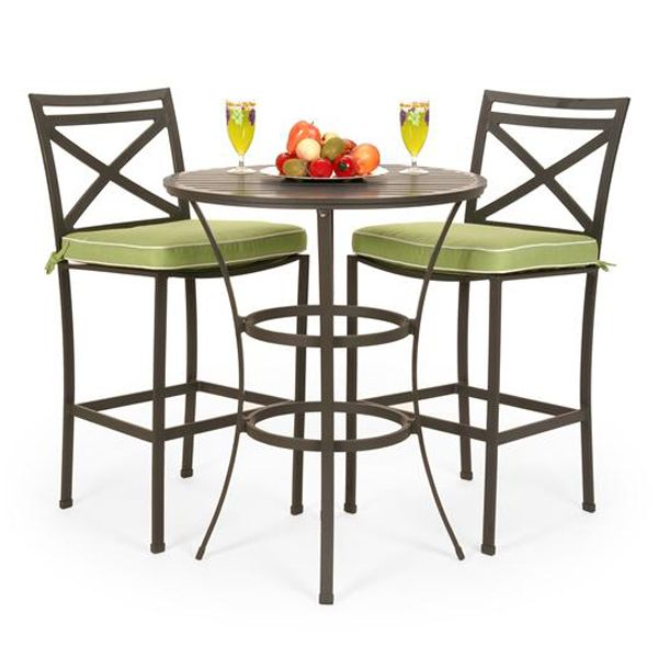 Chic San Michele Aluminum Outdoor Bar Height Patio Set | Family Leisure bar height patio set