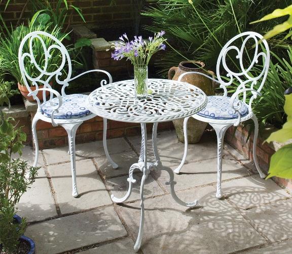 Chic Table bistrot antique. Metal Patio Sets - Metal Garden ... outdoor metal furniture sets