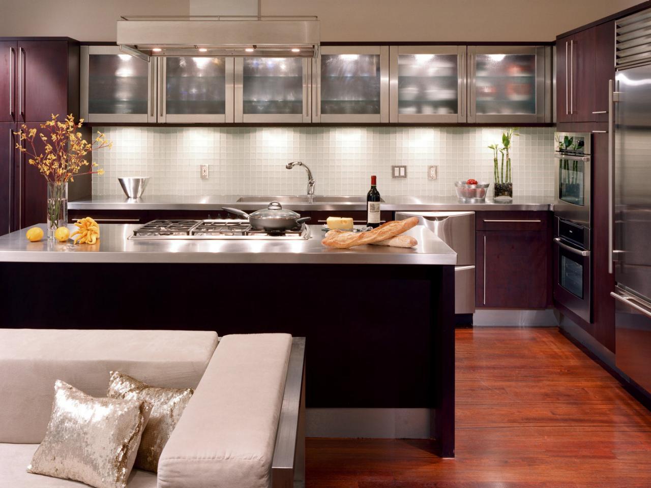 Chic Tags: kitchens · metallic photos · modern style ... modern small kitchen design ideas