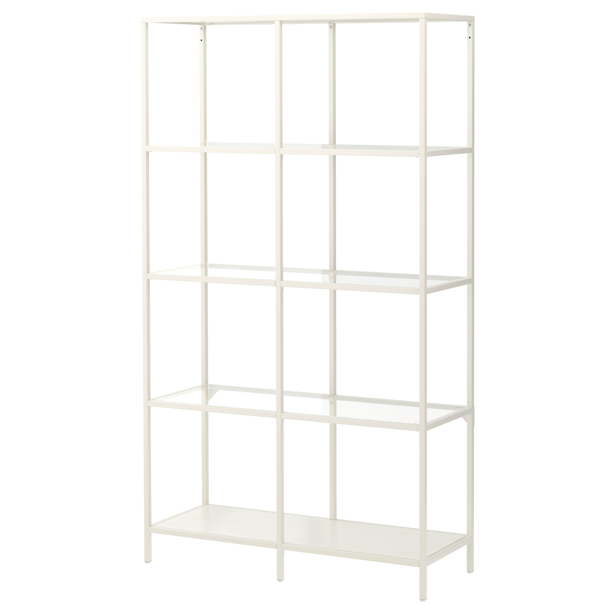 Chic VITTSJÖ Shelf unit - black-brown/glass - IKEA glass shelving unit