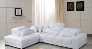 Chic White Leather Sectional Sofa with Adjustable Headrests modern-living-room white leather sectional sofa