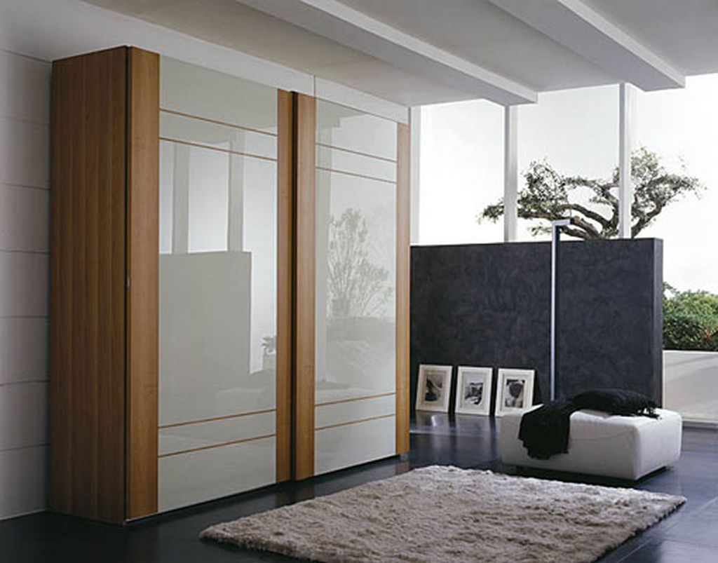 Chic wooden bedroom wardrobe sliding door with modern cupboard design modern wardrobe door designs