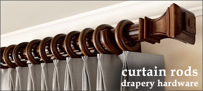 Chic Wooden Drapery Hardware and Curtain Rods wood curtain rods