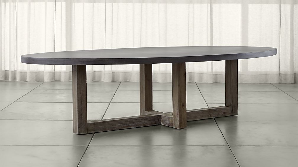 Chic Woodward Oval Dining Table with Solid Wood Base ... wood oval dining table